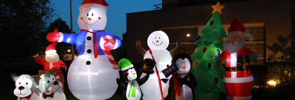 inflatable christmas figures