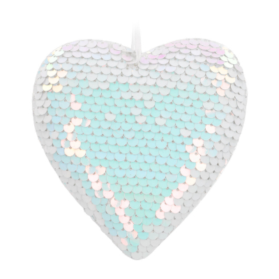 Hanging heart decoration with pearl sequins 11cm