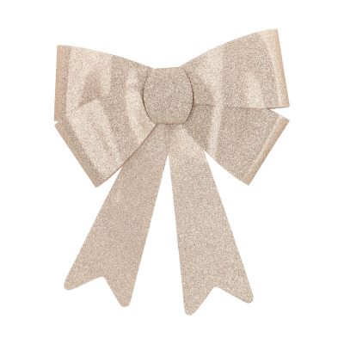 Glitter Christmas bow 35 cm champagne