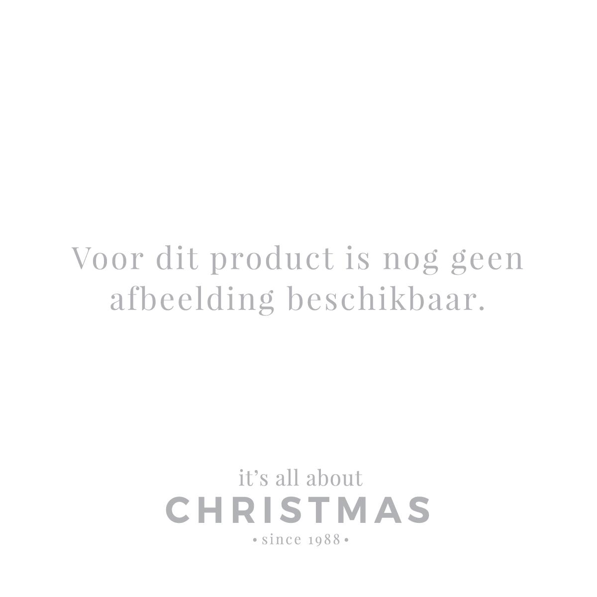 Elegant Glass Christmas Bauble with Glitter 8cm White
