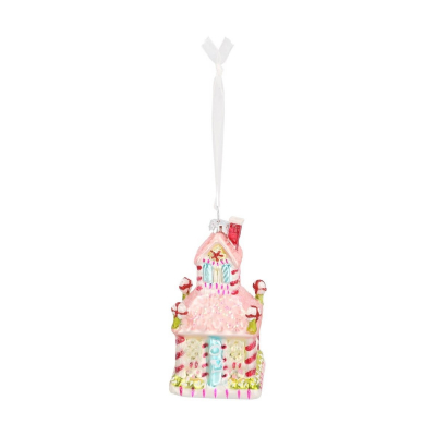 Luxury ornament gingerbread house 11 cm
