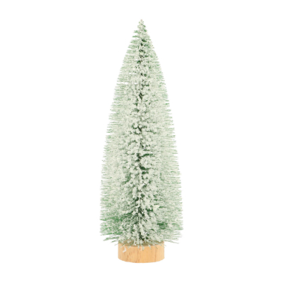 Deco Christmas tree with star 25cm green