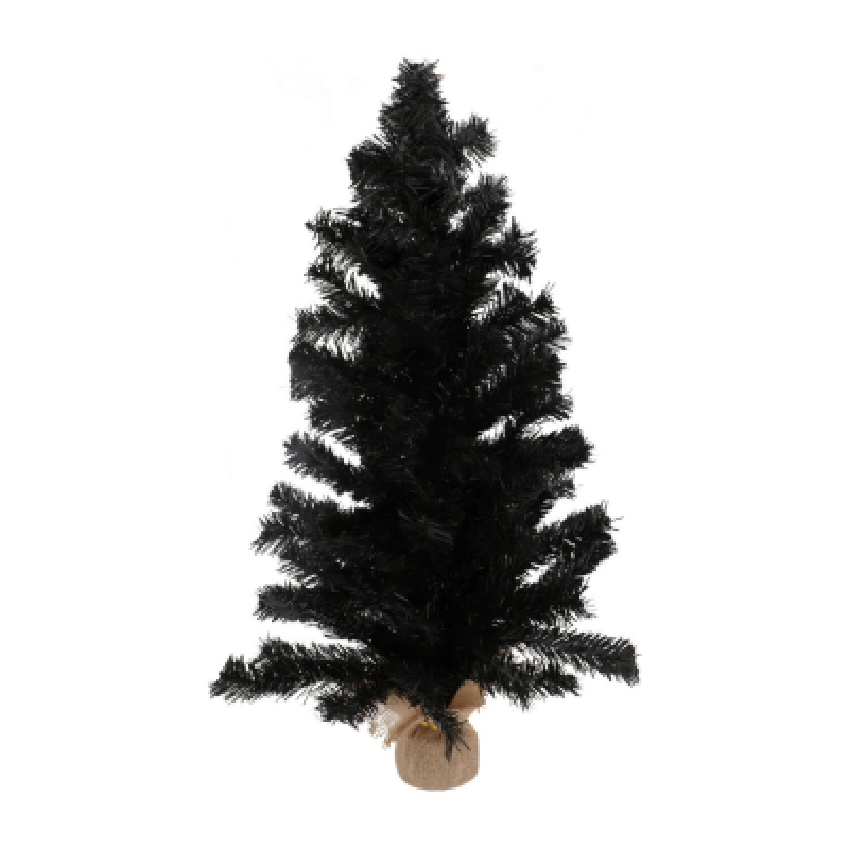 Mini Christmas tree with jute base 90cm black