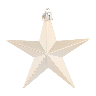 Shatterproof Christmas stars 10cm champagne 12 pieces