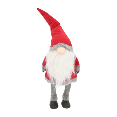 Christmas gnome with LED nose 96cm red