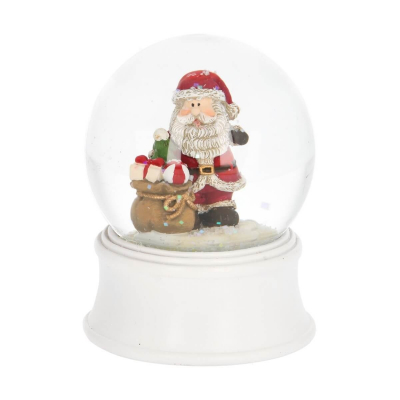 Snowglobe Santa with gifts 9 cm