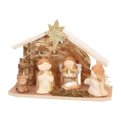 Terra-cotta nativity scene 22.5cm