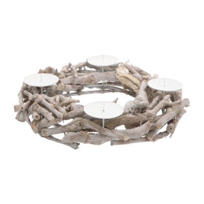 Christmas wreath branches white washed 40cm