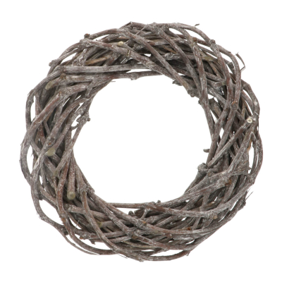 Grapevine wreath white washed 38cm