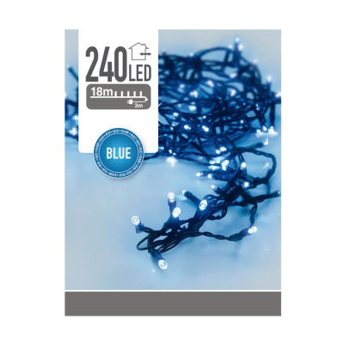 240 LED blue outdoor fairy lights