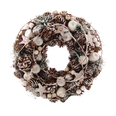 Natural wreath with deco 35cm