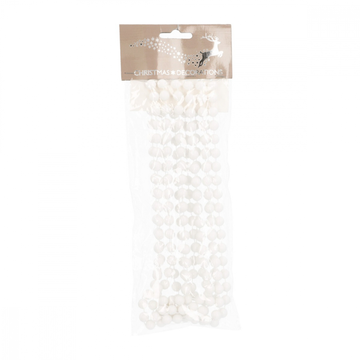 Bead garland 10mmx270cm white