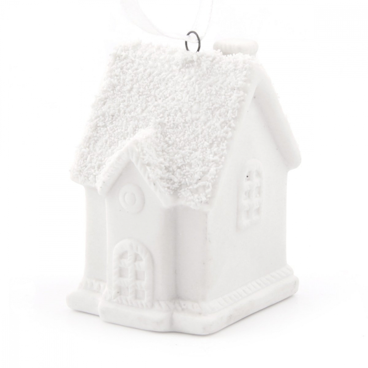 House with hanger - 6cm - Porcelain
