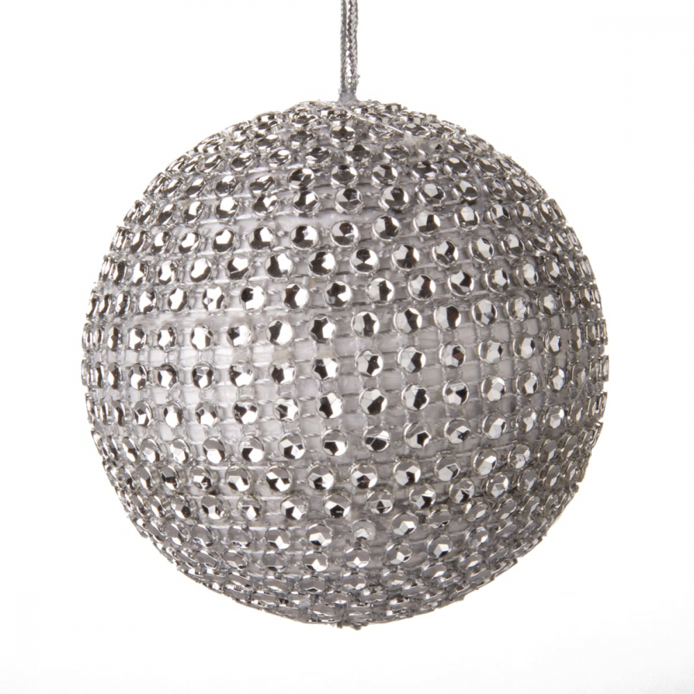 Christmas bauble with diamonds - Silver