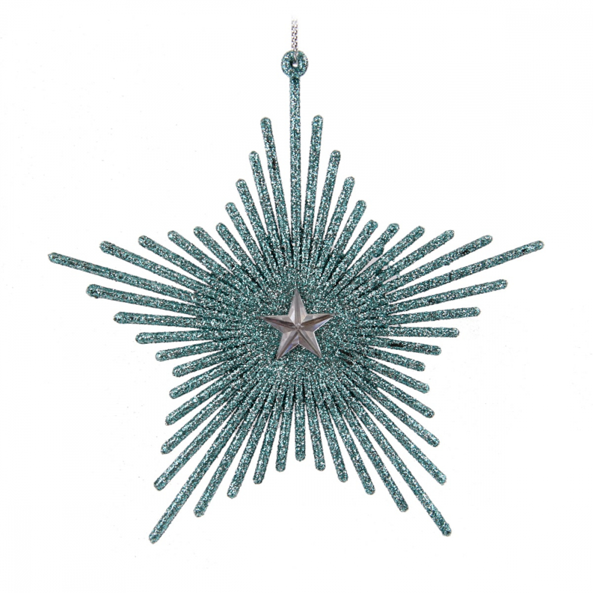 Ice star with glitter - Ice blue - 13cm