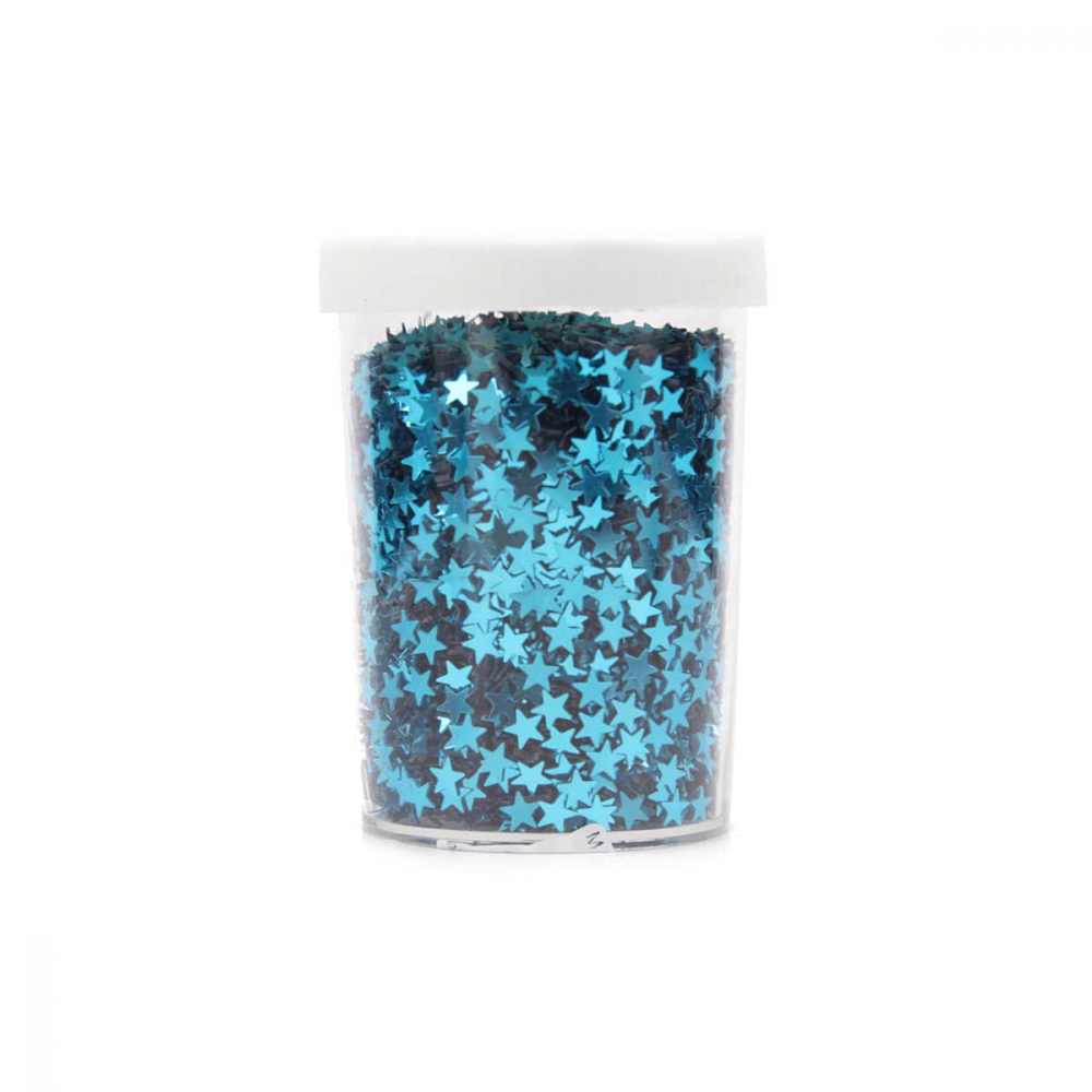 Plastic confetti stars teal blue 80gram