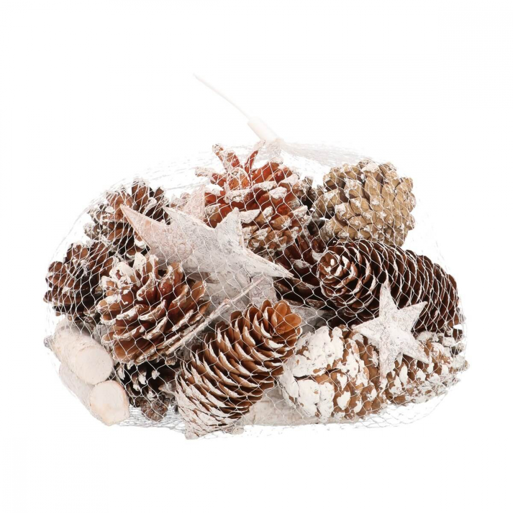 Mix with pine cones and stars 300grams