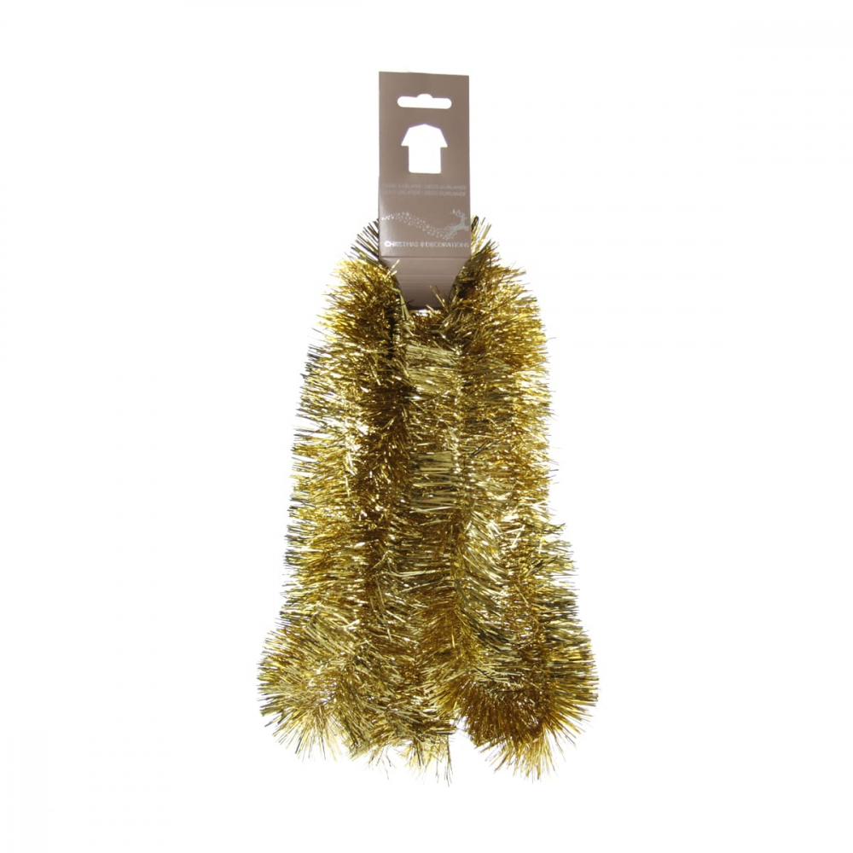 Christmas garland gold 270x7,5cm shiny